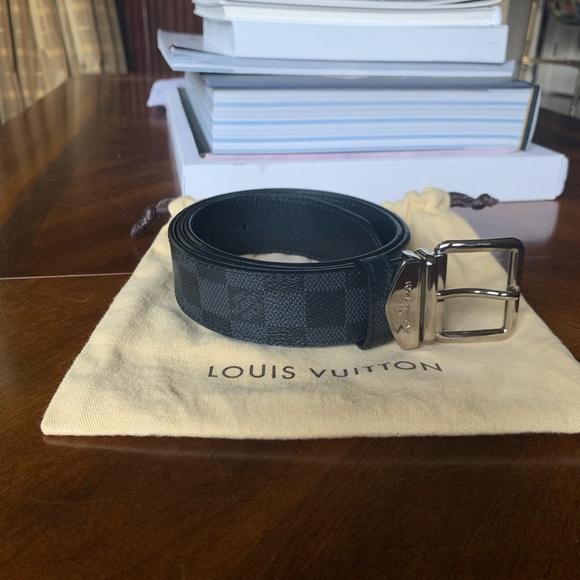 361698e62901 Louis Vuitton Other - Louis Vuitton Graphite Damier Belt 85cm- worn once